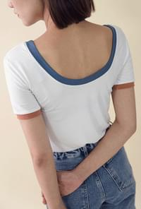Colored Color Round T-shirt