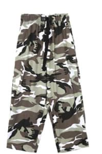 color camo camper pants - men パンツ