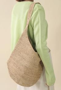 Raffia natural chiffon back