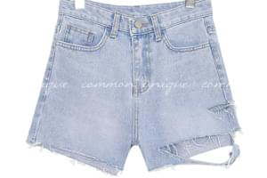 KIFF DEMAGE DENIM SHORTS