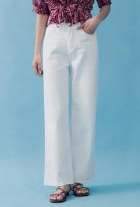 Wide-fit white pants