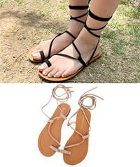 Rope strap sandals