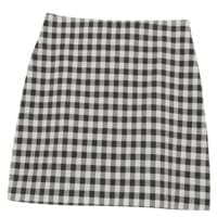 Momoro check skirt