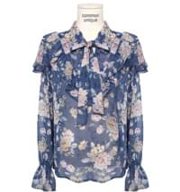 Floral Frilled Blouse