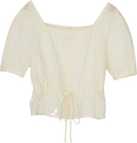 girlish strap puff blouse