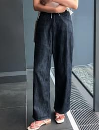 deep blue maxi denim pants