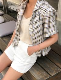 vintage check crop jacket