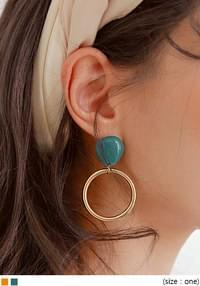 HEADZ GOLD CIRCLE DROP EARRING