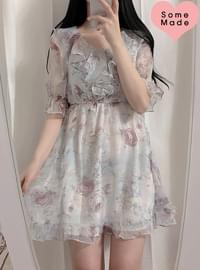 Self-produced, same day shipping ♥ Aurora floral frill ops