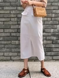 simple h-line banding skirt