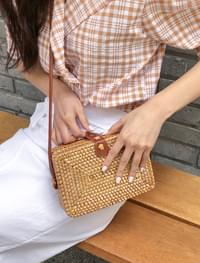 natural wood cross bag