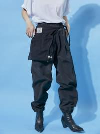 string cargo jogger pants - woman