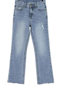 Semi-boot cut denim pants