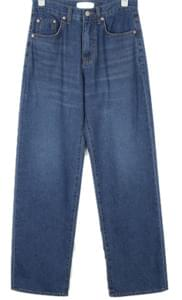 pin wide straight denim pants (s, m)