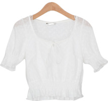 lace punching banding blouse
