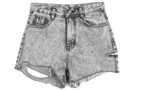 vintage cut highwaist short pants (2 color) - woman