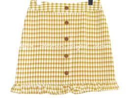 NARIE CHECK BUTTON MINI SKIRT