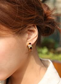 Leopard Round Earrings