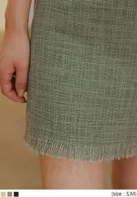 ALVIN FRINGE POINT MINI SKIRT