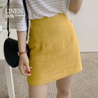Lemona linen skirt