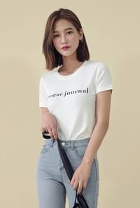 Lettering Round Neck T-shirt