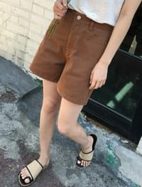 a-line cotton short pants