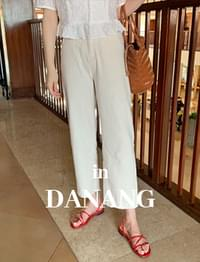 Crop cotton banding pants_Y