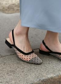 See-through dot sling back
