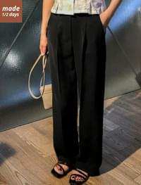 Wide Pintuck Maxi Slacks