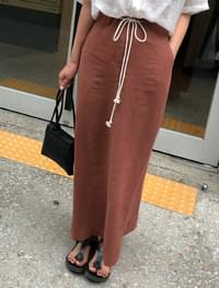 easy linen long skirt
