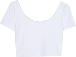 simple one neck crop T