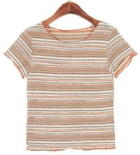 Stripe Round Neck T-shirt