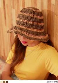 HAZEL COLOR MIX PAPER BUCKET HAT