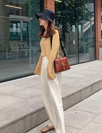 Two button wide pants_B
