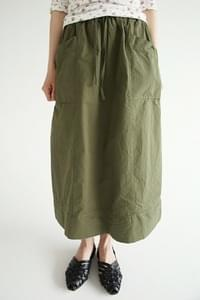 cozy simple pocket skirts