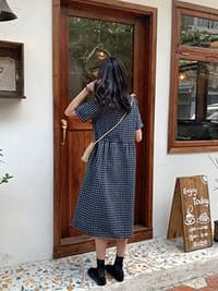 Linen Mellie Check Dress