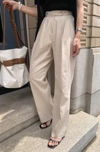 Touche Wide Linen Slacks