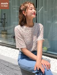 Flower round blouse