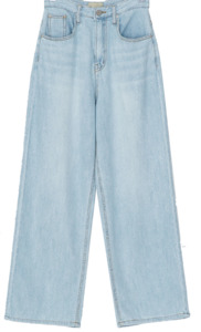 wide straight fit denim pants