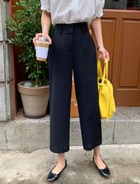 French Crop Wide Slacks