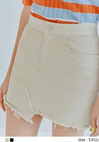 TERRY UNBAL CUTTING PANTS SKIRT