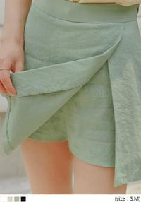 PABLE LINEN WRAP PANTS SKIRT