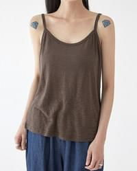 some linen sleeveless