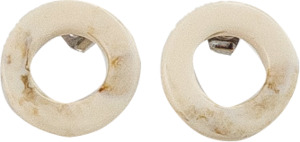 natural circle earring