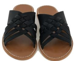 unique cross strap slipper