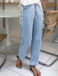 natural straight denim pants