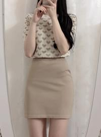 Order ♥ heart cut + mini skirt set