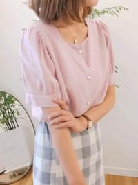 Pearl fresh linen blouse