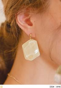 PALE SHADOW DROP EARRING
