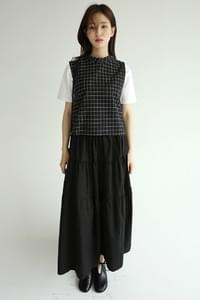 light cozy check sleeveless (2colors)